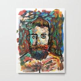 Sam con La Barba Metal Print