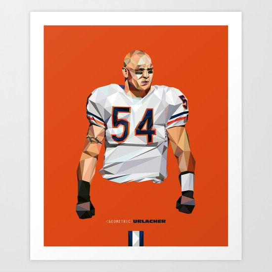 Geometric Urlacher Art Print