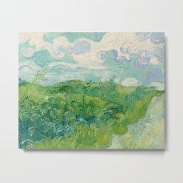Green Wheat Fields, Auvers, 1890, Vincent van Gogh Metal Print