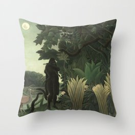 Henri Rousseau - The Snake Charmer Throw Pillow