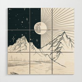 Mountain Lake Wood Wall Art