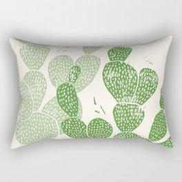 Linocut Cactus #1 Rectangular Pillow