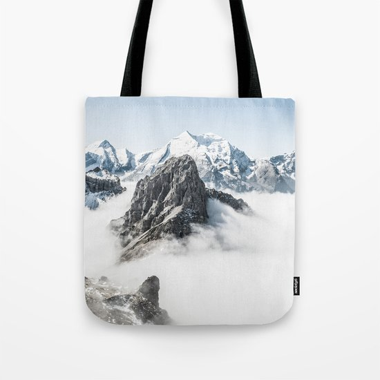 With My Head Above The Clouds Tote Bag