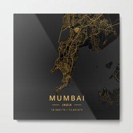 Mumbai, India - Gold Metal Print