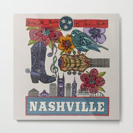 Nashville, TN Metal Print