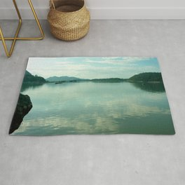 Mekong River Mountains Landscape Sky Reflection Water Rug