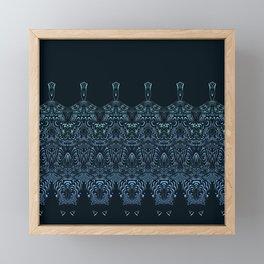 flowing lines pattern 1 Framed Mini Art Print