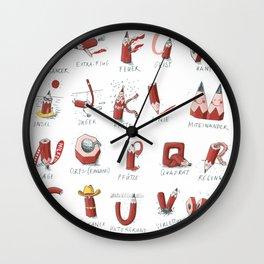 Pencil-ABC Wall Clock