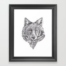 Hungry like the Wolf Framed Art Print