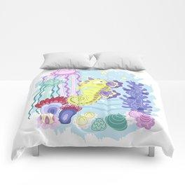 the Majestic Magical Seahorse Unicorn Comforters