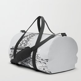 Eiffel tower at Las Vegas, USA in black and white Duffle Bag