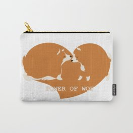 Corgi dogs are kissing Carry-All Pouch