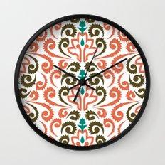 Moroccan Damask Wall Clock