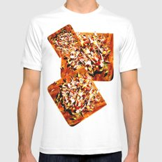 Flowers on a table 2 MEDIUM White Mens Fitted Tee