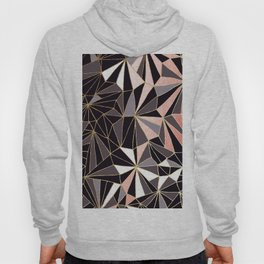 Stylish Art Deco Geometric Pattern - Black, Coral, Gold #abstract #pattern Hoody