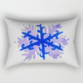 WATERCOLOR SNOWFLAKE 5 - blue and purple palette Rectangular Pillow
