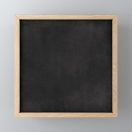 Simple Chalkboard background- black - Autum World Framed Mini Art Print