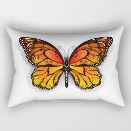 Orange Butterfly Monarch Rectangular Pillow