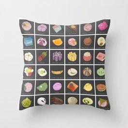 Wagashi Throw Pillow