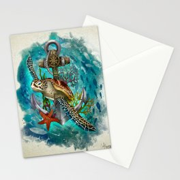 Turtle and Sea Stationery Cards