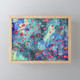 Moody - Floral Abstract Painting Framed Mini Art Print