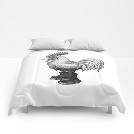 gallo con botas | rooster in boots Comforters