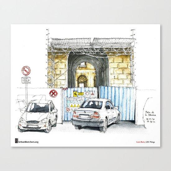 """Luis Ruiz, """"Málaga, Bad Parking"""" Canvas Print"""