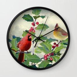 Spade's Cardinals Wall Clock