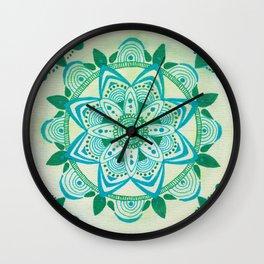 Simpe Blue/Green Mandala Wall Clock