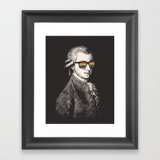 Pay No Attention Framed Art Print