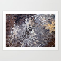 Puddles and Reflections Art Print