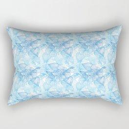 Blue Hibiscus Rectangular Pillow
