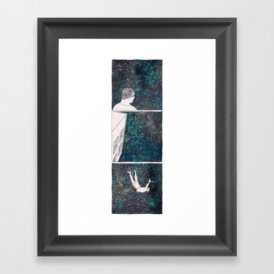SHORTEN THE DISTANCE BETWEEN US  Framed Art Print