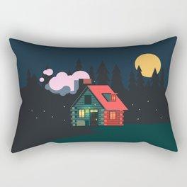 Cabin Home Rectangular Pillow
