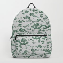 Traditional Chinese dragons -greeen Backpack