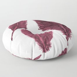 Feather Collection - bordeux Floor Pillow
