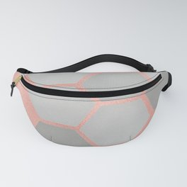 Honeycomb on Rose Gold Fanny Pack