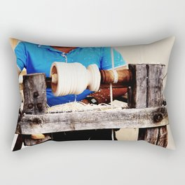 The artisan and the lathe Rectangular Pillow