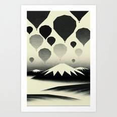Morning wind balloons Art Print