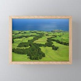 Typical Azores landscape Framed Mini Art Print