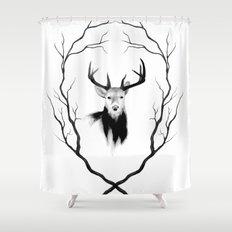 DEER REVISITED Shower Curtain