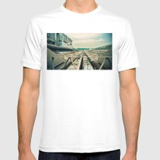 Train station White MEDIUM Mens Fitted Tee