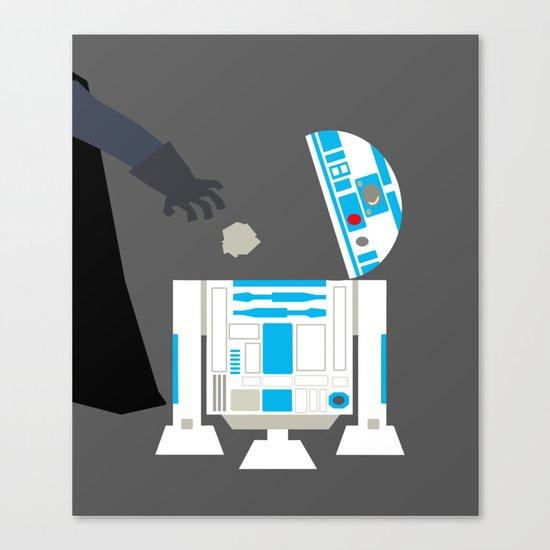 Darth Vader & r2d2 Canvas Print