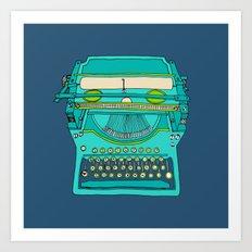 Typewriter Number Five Art Print