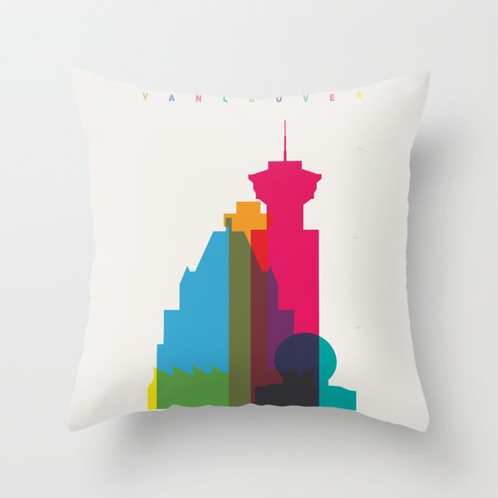 Shapes of Vancouver. Accurate to scale. Throw Pillow