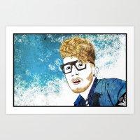 gorillaz Art Prints featuring Daley by ComfortComfort