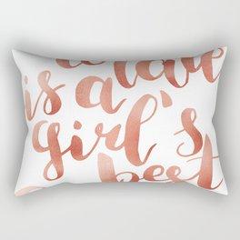 Chocolate is a girl's best friend Rectangular Pillow