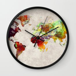 World Map 62 Wall Clock