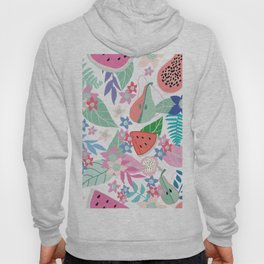 Tropical fruit pattern Hoody