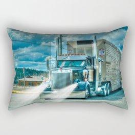 The Cattle Truck Rectangular Pillow